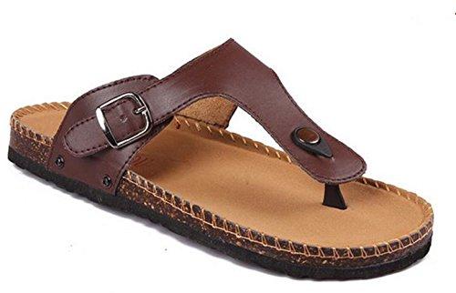 Sandali Infradito Unisex Yinhan Comode Pantofole Da Spiaggia Marrone