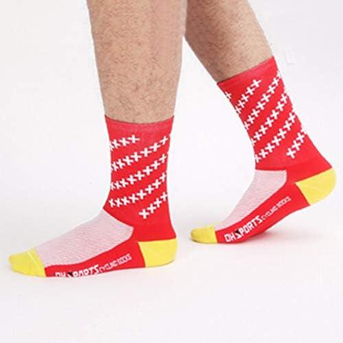 Color:red cvbf Atmungsaktive Radsocken M/änner Frauen Rennrad Socken Komfortable Outdoor Marke Racing Bike Compression Socken Farbe: rot