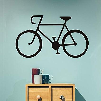 Pegatinas de Pared de Bicicletas clásicas Silueta de la Bicicleta ...