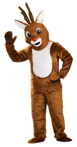 Reindeer Nose - Rubie's Reindeer Mascot Costume, Brown, One