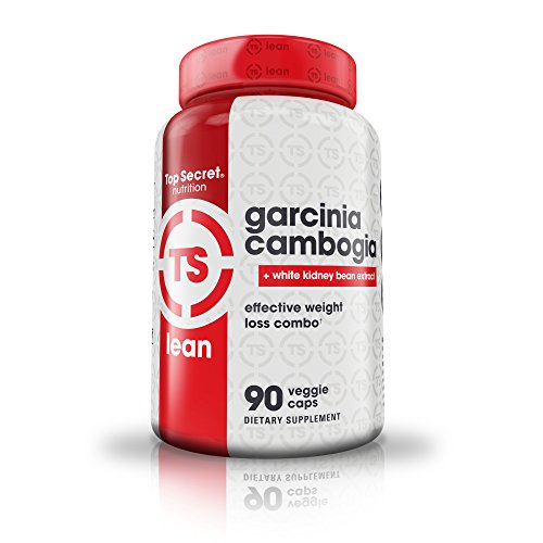 Top Secret Nutrition Garcinia Cambogia 60% HCA with White Kidney Bean for Weight Loss, Carb Blocker, Appetite Control, Minimize Cravings (90 veggie caps)
