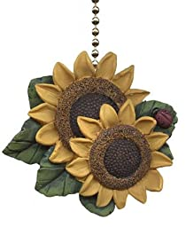 Sunflower Ladybug Floral Kitchen Ceiling Fan Light Pull