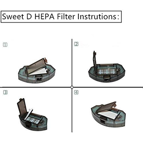 12 Pcs Filtros Hepa para robots aspiradores Conga Excellence 990 ECOVACS n79s Eufy RoboVac 11 Accesorios