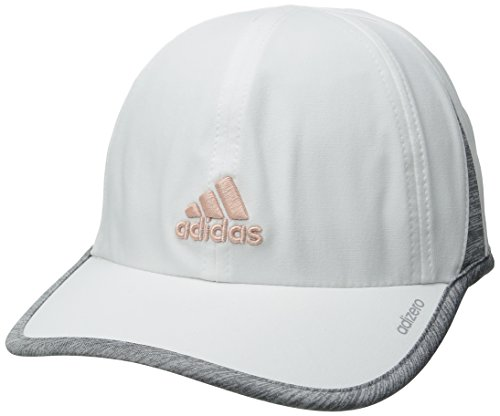 adidas Women's Adizero II Cap, White/Heathered Grey/Vapour Pink, One Size from adidas