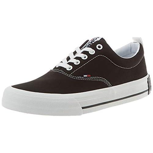 chollos oferta descuentos barato Tommy Hilfiger Classic Low Tommy Jeans Sneaker Zapatillas Hombre Negro Black Bds 40 EU