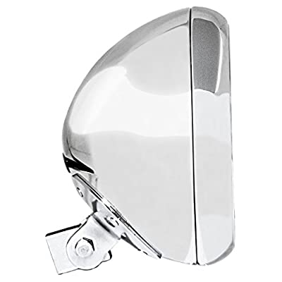 "Adjure (HB77010) Chrome 7\"" Smooth Headlight Bucket: Automotive [5Bkhe1505796]"