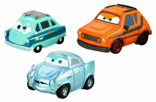 Cars Micro Drifters Grem, Professor Z and Finn McMissile Vehicle 3-Pack (Cars 2 Grem)