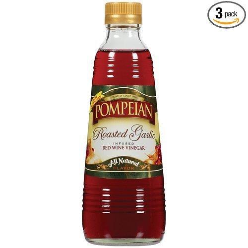 Pompeian Vinegar Roasted Garlic Infused Red Wine 16oz (6 - Wine Roasted
