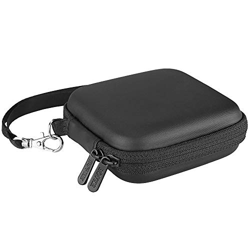 BOVKE Carrying Case for Samsung T3 T5 Portable SSD 250GB 500GB 1TB 2TB USB 3.0 External SSD Solid State Hard Drives Shockproof Storage Travel Case Bag, Black