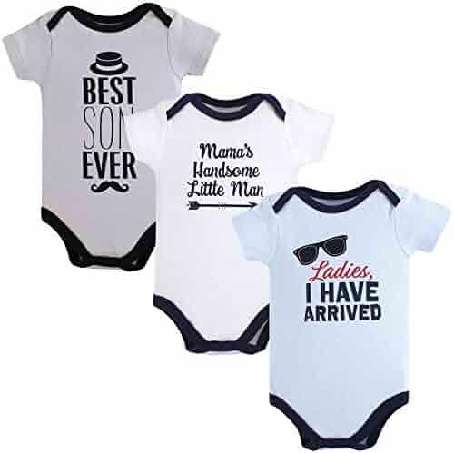 Hudson Baby Baby Boys' Cotton Bodysuits