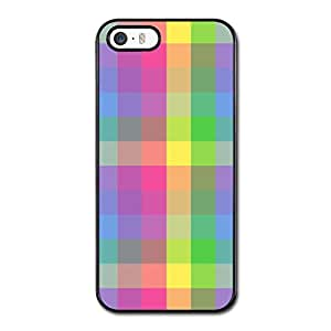 Iphone 5s Case, Iphone 5 Covers, Cateyes Hard Cover Case For Iphone 5/5s- Checkers Rainbow Pattern