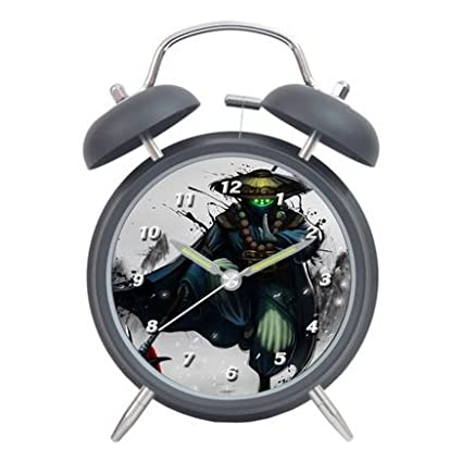 League of Legends Anime Student reloj en forma de delfín de dibujo de silencio campana de