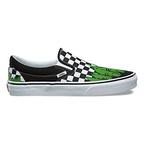 Vans Classic Slip-On (Marvel) Hulk/Checkerboard VN0A38F7U44 Mens 5, Womens 6.5