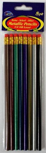 Metallic Pencils #2 HB Lead 72 pcs sku# 1457744MA by DDI