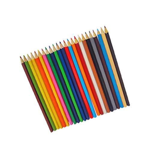 GSusan Kids Lápices de Colores - Pack de 12 lápices de Colores, Colores Surtidos,Tinta inocua a Base de Agua.