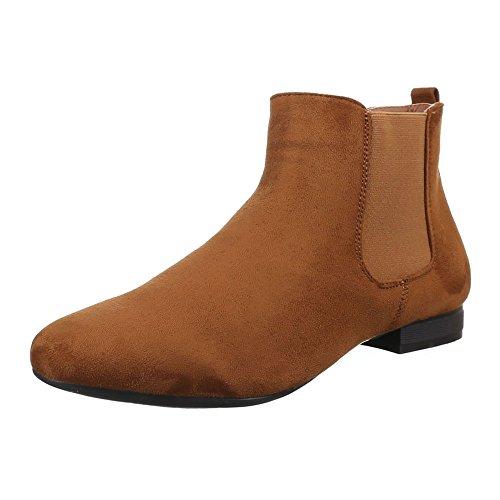 Chelsea Boots Design Damen Ital Camel pERaxq