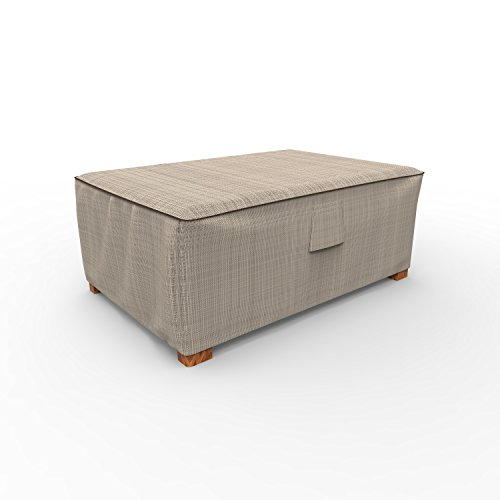EmpirePatio P4W01PM1 Tan Tweed Wicker Ottoman Cover by EmpireCovers
