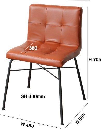 市場アンセムチェア合成皮革ブラウンANC-2552BR
