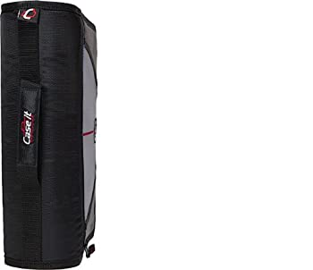Case-it Mighty Zip Tab 3-inch Zipper Binder, Black, D-146-blk 6