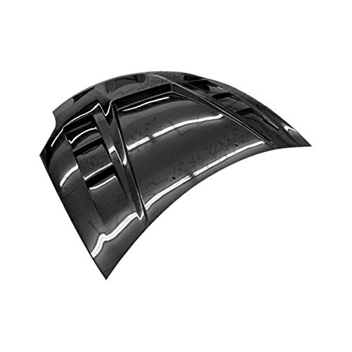Brightt (VIS-KTI-171) Monster GT Style Hood Carbon Fiber - Compatible for Mitsubishi Eclipse 2006-2012 (2006 2007 2008 2009 2010 2011 2012 | 06 07 08 09 10 11 - Mitsubishi Fiber Hood Eclipse Carbon