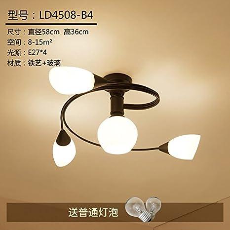 Techo de LED minimalista moderna iluminación habitaciones sala de estar dormitorio lámpara de la lámpara artes personalidad creativa restaurante infantil, ...