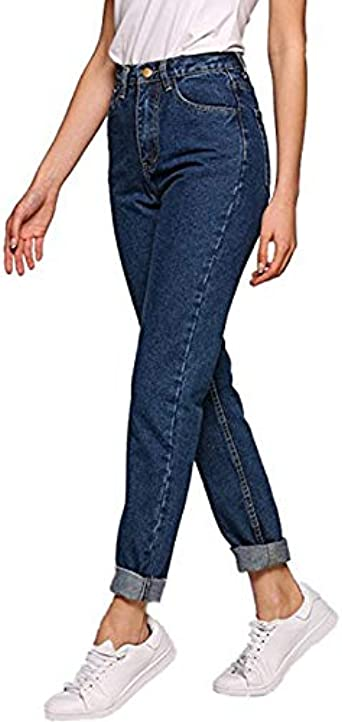Cikuso Jeans para Mujer Novio Pantalones de Denim de Lápiz