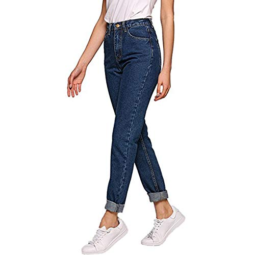 725861b5acefc Nrpfell Women Boyfriend Jeans Pencil Denim Pants High Waist Casual Jeans  Woman Vintage Boyfriend Mom Jeans