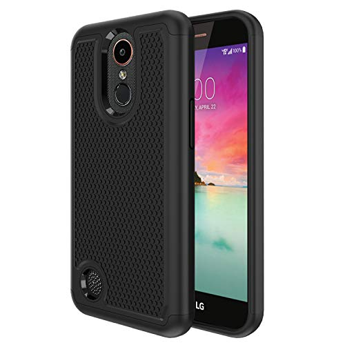 [해외]LG K20 CaseLG Harmony CaseLG K20 Plus CaseLG K20 V K20V CaseLG K10 2017 CaseLG Grace LTE Case[Shock Absorption][Dual Layer]Heavy Duty Hybrid Armor Defender Protective Case Cover for LG K20Black / LG K20 Case,LG Harmony Case,LG K20 ...