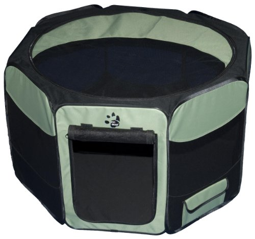 TL4146SG Pet Gear Travel Lite Octagon Pet Pen with Removable Top for Cat and Dog up to 90-Pound, 46-Inch, Sage