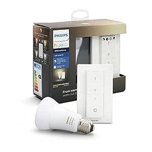 Philips Hue Dimming Kit  White Ambiance avec 1xE27 10,5W [interrupteur avec variateur inclus] – Fonctionne avec Alexa