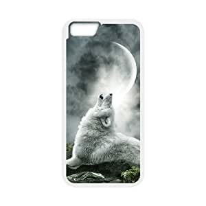Diy Gray Wolf Custom for iphone 6 Plus (5.5 inch) White Shell Phone Cover Case LIULAOSHI(TM) [Pattern-1] by mcsharks