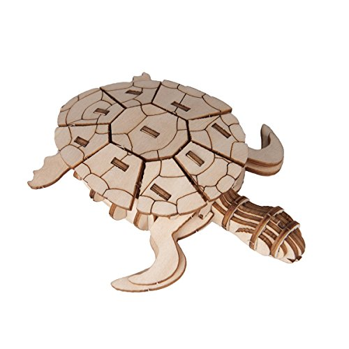 Torch 3D Wood Puzzle Wooden DIY Children Gift Collection (Sea ()