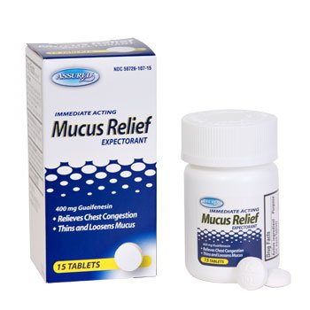 Immediate Acting Mucus relief, Expectorant, 400 mg Guaifenesin, 15 tablets ()
