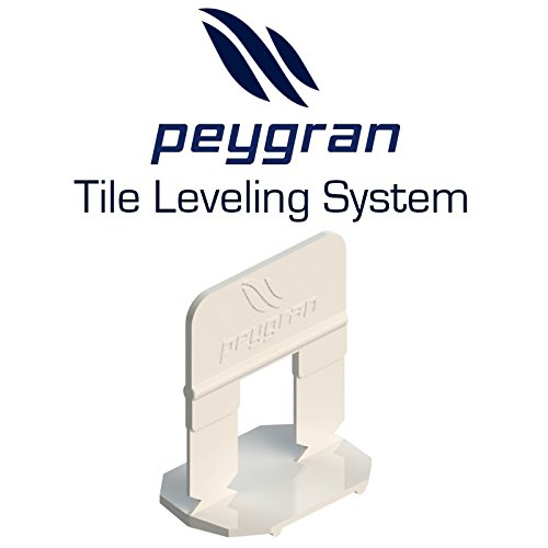 1/16'' (2MM) Peygran Tile Leveling System 500 Clips. Lippage free tile and stone installation for PRO and DIY. The most precise and reliable product on the market. by Peygran Leveling System
