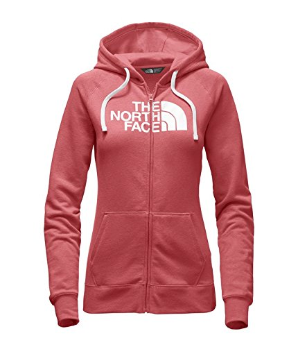 The North Face Women's Half Dome Full Zip Hoodie Cayenne Red/TNF White...
