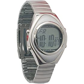 Oval Metal 4-Alarm Talking Watch - Spanish