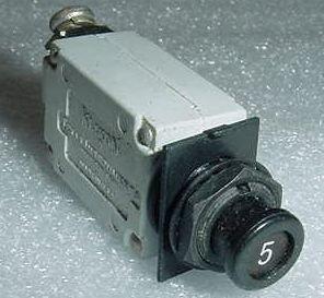 MS26574-5, 7274-2-5, 5A Slim Klixon Aircraft Circuit ()
