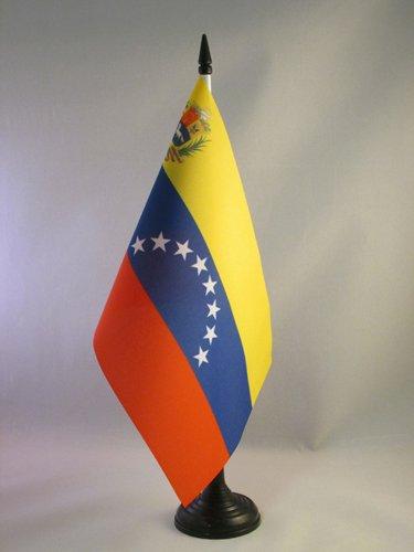 BANDERINA de DESPACHO VENEZUELANA 14 x 21 cm AZ FLAG Bandera de Mesa de Venezuela 21x14cm