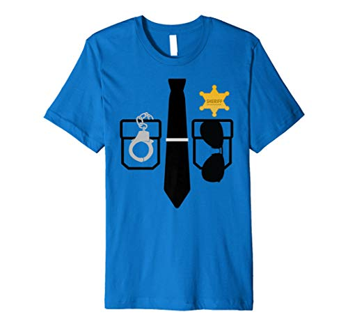 Officer Costume Tshirt Funny Halloween Cop Police shirt -