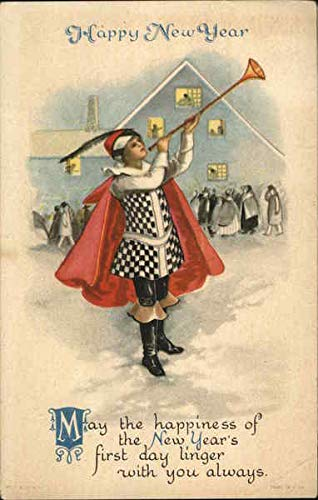 Periods & Styles Postcards Precise Vintage Arts And Crafts New Year's Postcard #3