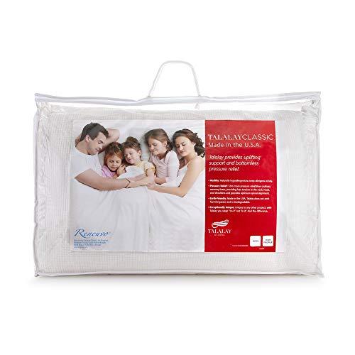 RejuveNite Premium Original Talalay Latex Firm Restora Now The Talalay Classic High Profile Pillow- Queen