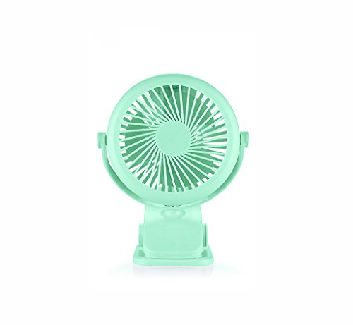 KTYX USB Mini Rechargeable Student Dormitory Bed Silent Portable Portable Fan fan (Color : Green) by KTYX