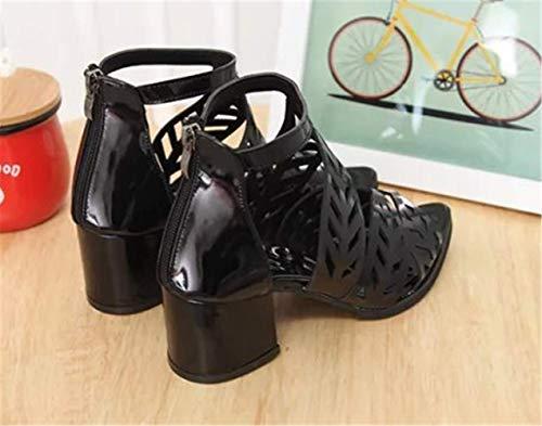 Pointu Haut Cheville Chaussure Sexy Femmes Strass Sandale À De Ouvert Noir Bout Escarpins Talon Bride Yogly Mariage 8q1w7Szxw