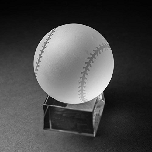 - Waltz&F Clear Crystal Baseball Ball Paperweight with Base Stand Crystal Collectible Figurines Approx 1.57