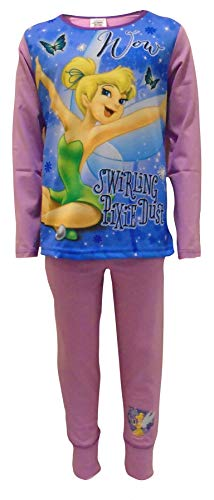 Disney Tinkerbell Pixie Dust Girls Two Piece Pajama Set 4-5 Years Pink ()