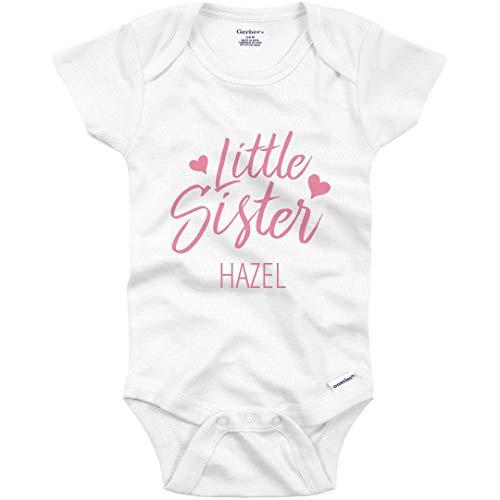 Little Sister Love Hazel: Infant Gerber Onesie White