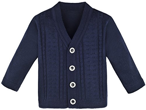 Lilax Baby Boy Cable-Knit Basic Knit Cardigan Sweater 3-6 Months ()