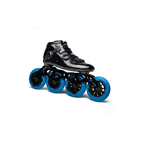 - Juvenile shoulder Original Cityrun Professional Speed Inline Roller Skates for Kids Adult Carbon Fiber 4 Wheel Racing Speed Skating Shoes,Black Blue,35