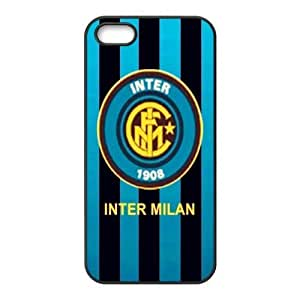 Soccer Internazionale Milano Football Club Classic Design Print Black Case With Hard Shell Cover for Apple iPhone 5/5S