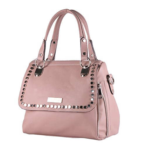 sac Femme BORDERLINE Exclusif Poudre boutons Italy JESSICA cuir avec in souple véritable en Made 100 g0qw0X4